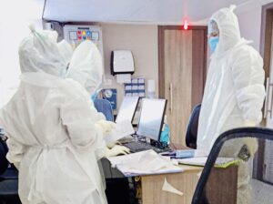 PPE- donning doctors in my Coronavirus dedicated ward