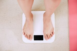weighing on scales